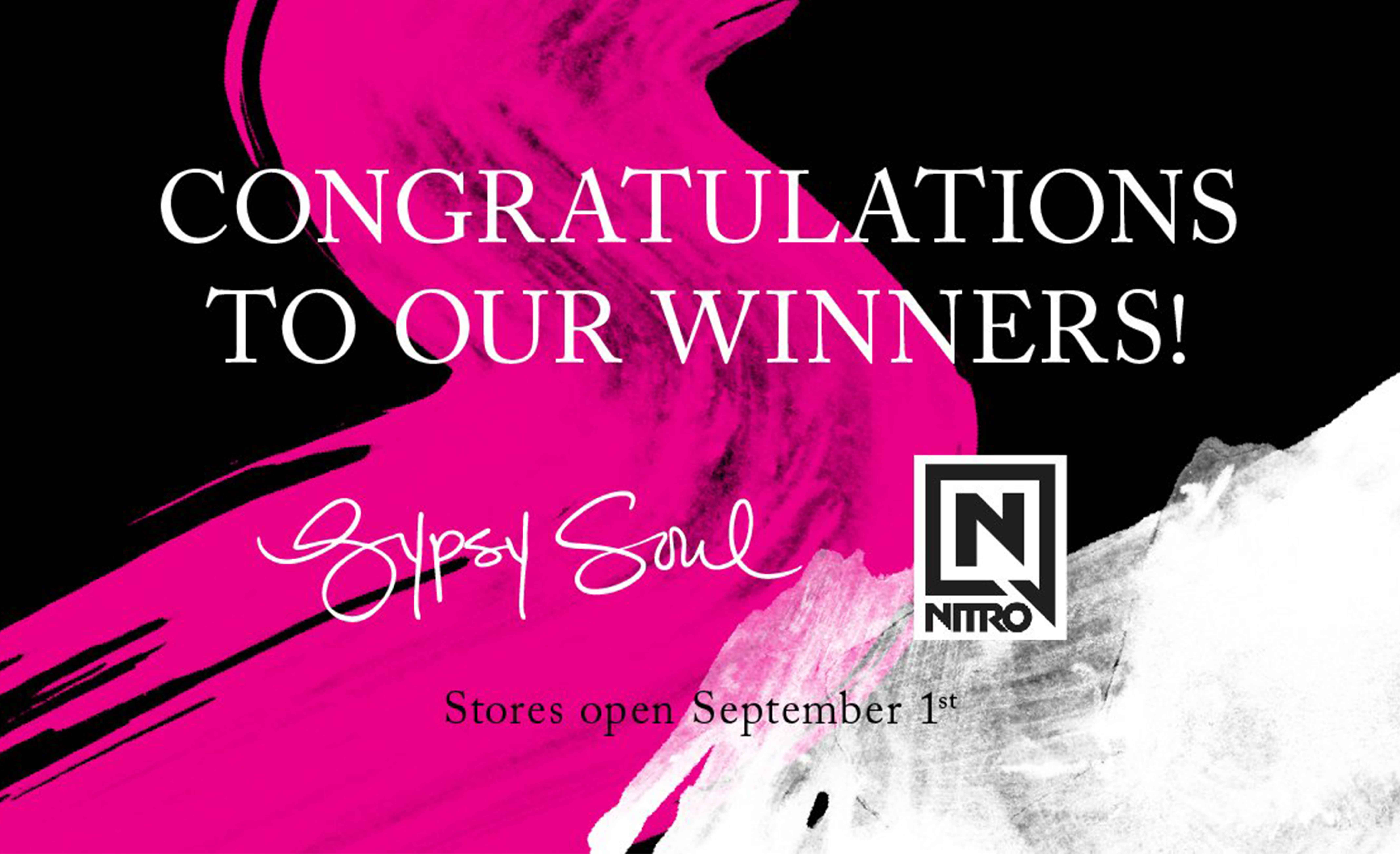 ANNOUNCING OUR WINNERS!